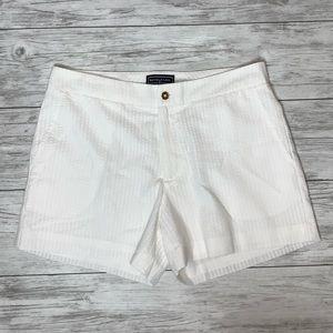 Duffield Lane White Seersucker Shorts Size 6 NWT